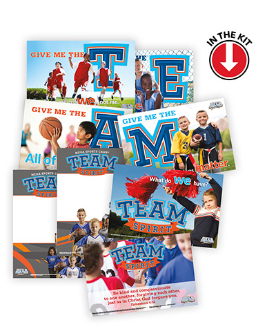 mega sports camp bible themes conquer the day